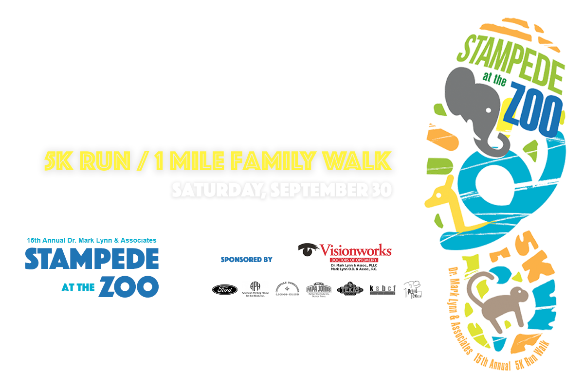 Stampede for VIPS 5K at the Louisville Zoo on Saturday, Septemeber 30 at 8:00am.