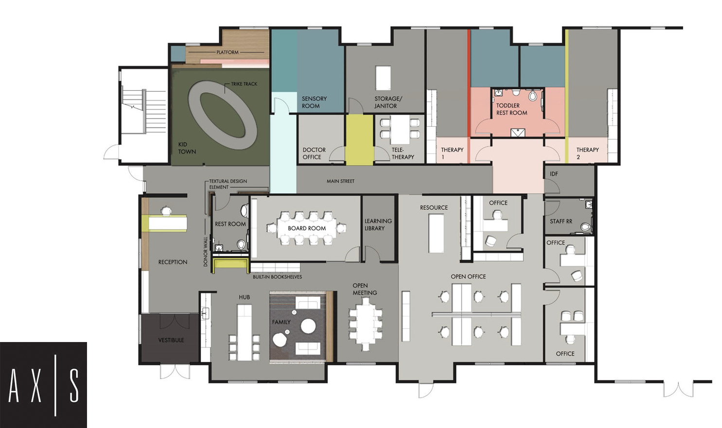 Floorplan of VIPS Indiana Family Resource Center