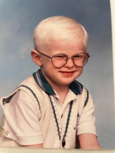 VIPS Board Member, Paul Frazier, at age 4.